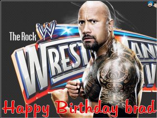 Enjoyable A4 Personalised The Rock Wwe Edible Icing Or Wafer Birthday Funny Birthday Cards Online Alyptdamsfinfo